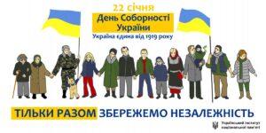 22 січня 2021 року в Україні відзначають День Соборності