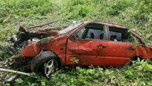 На Сумщині авто злетіло в кювет: постраждав водій